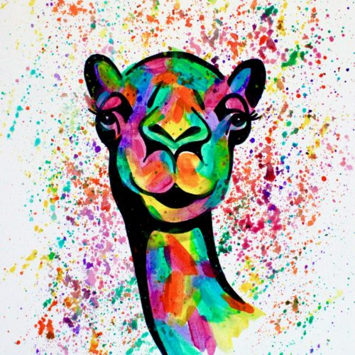 Camel Canvas Painting