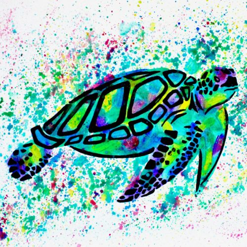 Turtle Canvas Painting